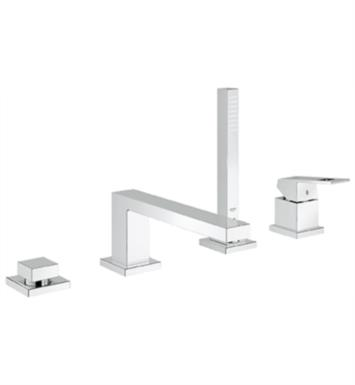 "Grohe 19897000 Eurocube 10"" Four Hole Widespread/Deck Mounted Roman Tub Filler with Handshower"