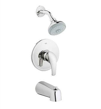 Grohe 35012001 Eurosmart Pressure Balance Valve Shower / Bath Combination in Chrome