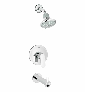 Grohe 35019000 Eurosmart Pressure Balance Valve Bath Combination in Chrome