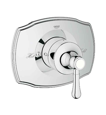 Grohe 19843000 GrohSafe 2000 Authentic Single Function Pressure Balance Trim with Control Module in Chrome
