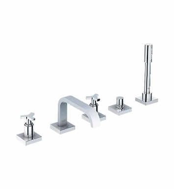 Grohe 25083000 Allure Widespread Bathroom Faucet with Hand Shower in Chrome