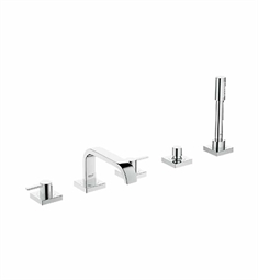Grohe Allure Widespread Bathroom Faucet with Hand Shower in Chrome