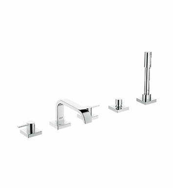 Grohe 25097000 Allure Widespread Bathroom Faucet with Hand Shower in Chrome