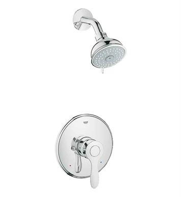 Grohe 35039EN0 Parkfield Pressure Balance Valve Shower Combination in Brushed Nickel