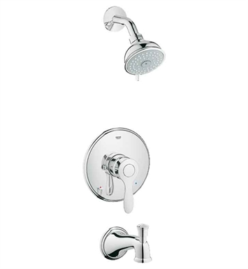 Grohe 35040EN0 Parkfield Pressure Balance Valve Shower Combination in Brushed Nickel