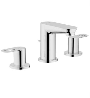 "Grohe 20225000 BauLoop 17 3/4"" Double Handle Widespread Low Arc Bathroom Faucet in Chrome"