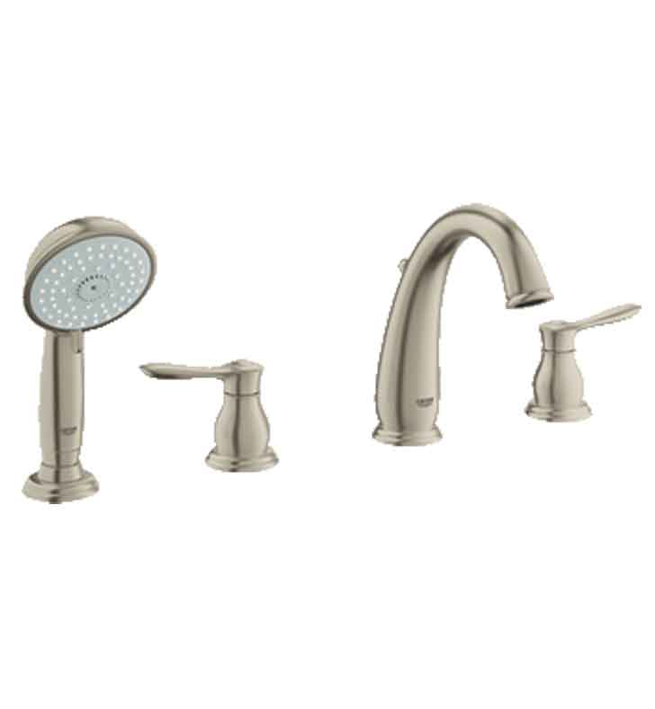 Grohe 25153EN0 Parkfield Roman Tub Faucet With Hand Shower In Brushed Nickel
