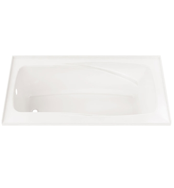 "Neptune E10.16816.4500 Entrepreneur Velona 60"" x 36"" Customizable Alcove Soaker Bathtub With Drain Position: Left Side - Integrated Tiling Flange"