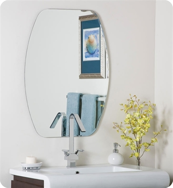 Decor Wonderland Frameless Oval Mirror