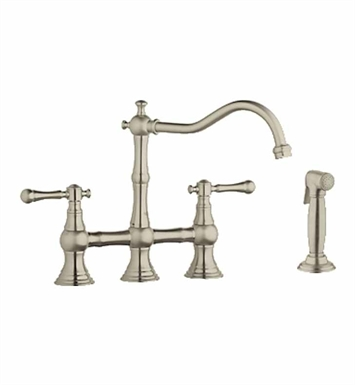 Grohe 20158EN0 Bridgeford Bridge Faucet with Side Spray in Brushed Nickel