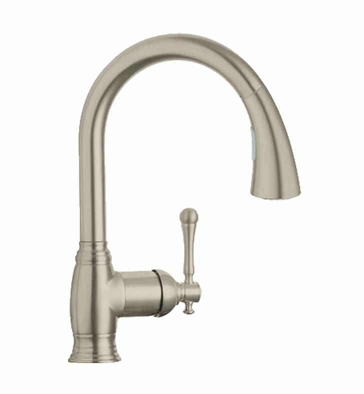 Grohe En Bridgeford Pull Down Spray Kitchen Faucet Brushed Nickel