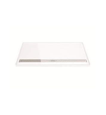 Fleurco ABF3763AD-13-11 Adaptek Roll-In ADA Shower Base With Finish: Biscuit And Drain Cover: Chrome Finish Drain Cover