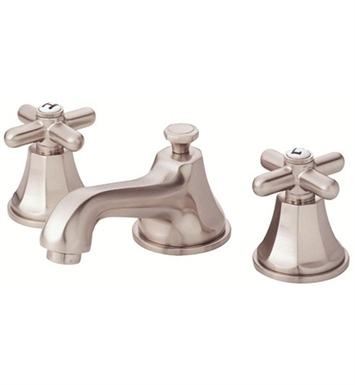 Danze Brandywood™ Widespread Cross Handle Lavatory Faucets in Brushed Nickel