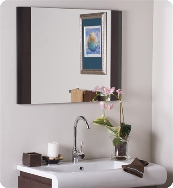 Decor Wonderland SSM83 Capaccino Wood Wall Mirror