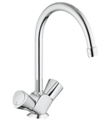 "Grohe 31074001 Classic II 11 1/8"" Two Handle Deck Mounted High-Arc Kitchen Faucet in Chrome"