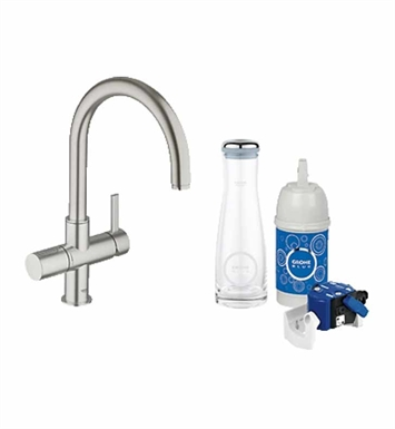 Grohe 31312DC0 Blue Pure Dual Function Faucet in Brushed Nickel
