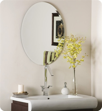 Decor Wonderland SSM2228 Odelia Oval Bevel Frameless Wall Mirror