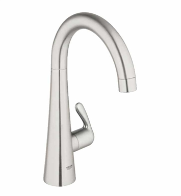 Grohe 30026SD0 Ladylux Basin/Pillar Tap in Real Steel