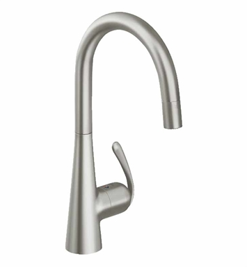 Grohe 32226dc0 Ladylux Dual Spray Pull Down Faucet In Super Steel