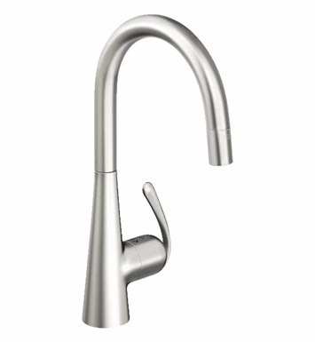 Grohe 32226SD0 Ladylux Dual Spray Pull-Down Faucet in  Real Steel