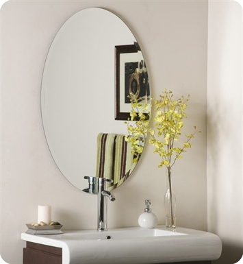 Decor Wonderland SSM2436 Hiltonia Oval Bevel Frameless Wall Mirror