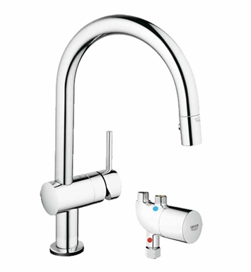 Grohe 31392000 Minta Touch Pull-Down Faucet with GrohTherm Micro in Chrome