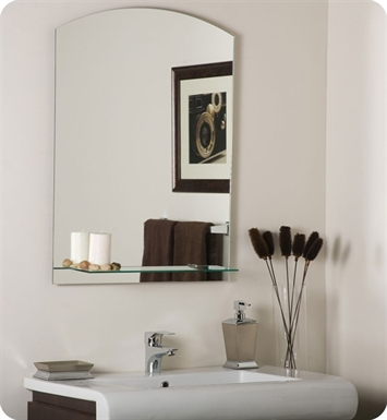 Decor Wonderland SSM101 The Arch Frameless Mirror with Shelf