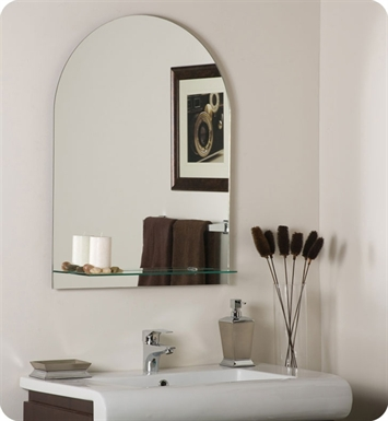 Decor Wonderland Roland Frameless Wall Mirror with Shelf