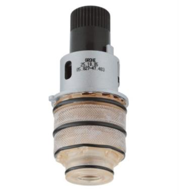 "Grohe 47483000 3/4"" Thermostatic Compact Cartridge in Brass"