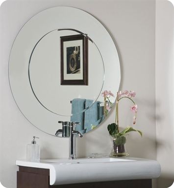 Decor Wonderland SSM501 Oriana Modern Round Wall Mirror