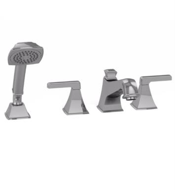 "TOTO TB221S#CP Connelly 10"" Four Hole Deck Mounted Roman Tub Filler with Handshower With Finish: Polished Chrome"