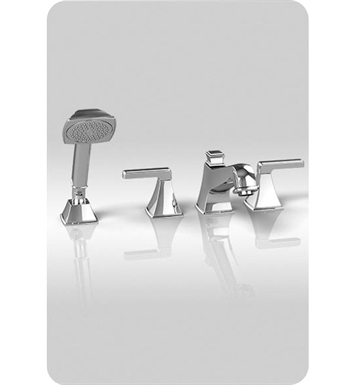 TOTO TB221S#BN Connelly™ Four-Hole Roman Tub Filler with Handshower With Finish: Brushed Nickel
