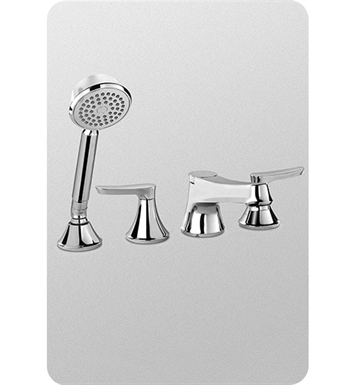 TOTO TB230S#PN Wyeth™ Deck-Mount Tub Filler Trim with Handshower With Finish: Polished Nickel