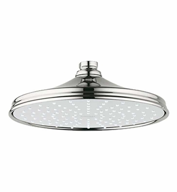grohe 28375be0 rainshower rustic 210 shower head in polished nickel. Black Bedroom Furniture Sets. Home Design Ideas
