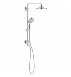 Grohe Retro-Fit Bundle Rainshower Rustic Shower Set in Chrome