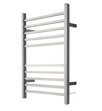 Amba RSWPB Radiant Square Plug-in Towel Warmer With Finish: Brushed