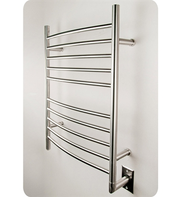 Amba RWH-SB Radiant Straight or Curved Hardwired Towel Warmer With Shape: Straight And Finish: Brushed