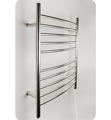 Amba RWP-CP Radiant Straight or Curved Plug-in Towel Warmer With Shape: Curved And Finish: Polished