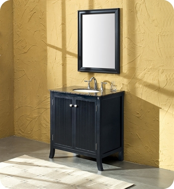 "Fresca FVN6526BB Thames 34"" Traditional Single Sink Bathroom Vanity w/ Baltic Brown Countertop"
