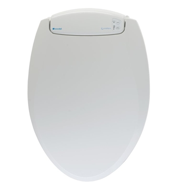 Brondell L60-EW LumaWarm Heated Toilet Seat with LED Nightlight With Finish: White And Toilet Seat / Washlet Shape: Elongated