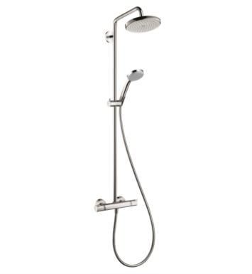 "Hansgrohe 27185821 Croma 220 47 3/4"" Shower Set with Multi Function Showerhead and Handshower With Finish: Brushed Nickel"