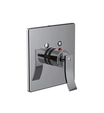 Santec 7093CR10-TM Ava Crystal CR Style Thermostatic Control Handle with Trim Plate With Finish: Polished Chrome <strong>(USUALLY SHIPS IN 1-2 WEEKS)</strong> And Configuration: Trim Only