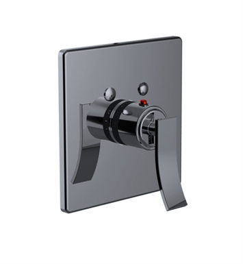 Santec 7093CU15-TM Ava CU Style Thermostatic Control Handle with Trim Plate With Finish: Satin Chrome <strong>(USUALLY SHIPS IN 1-2 WEEKS)</strong> And Configuration: Trim Only