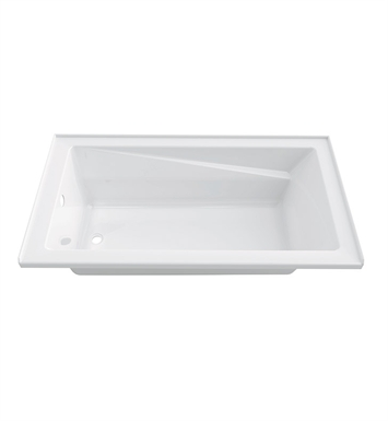 "Neptune E10.18912.4500 Entrepreneur Zenya 60"" x 32"" Alcove Customizable Soaker Bathtub with Integrated Tiling Flange With Drain Position: Left Side - Integrated Tiling Flange"