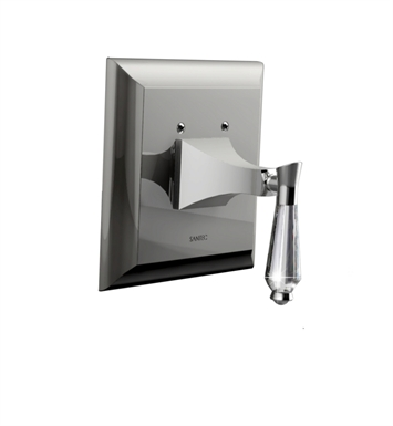 Santec 9235DC15-TM Edo Crystal DC Style Handle with Diverter & Plate With Finish: Satin Chrome <strong>(USUALLY SHIPS IN 1-2 WEEKS)</strong> And Configuration: Trim Only