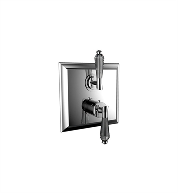 Santec 7095DC10 Edo Crystal DC Style Dual Thermostatic Handle with Volume Control & Trim Plate With Finish: Polished Chrome <strong>(USUALLY SHIPS IN 1-2 WEEKS)</strong>