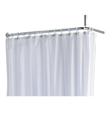 "Keuco 14944000210 Plan Shower Curtain With Configuration: Size: 55"" x 70 7/8"" 