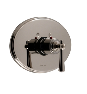 Santec 7093VO10-TM Vogue VO Style Thermostatic Control Handle with Trim Plate With Finish: Polished Chrome <strong>(USUALLY SHIPS IN 1-2 WEEKS)</strong> And Configuration: Trim Only