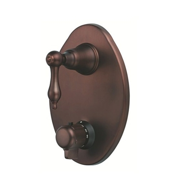 Danze D560140RB Fairmont™ Two Handle Thermostatic Shower Valve with Trim in Oil Rubbed Bronze