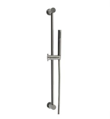 "Santec 70842055 Hand Shower Set with Slide Bar (Slide Bar 27"" Long, Hose 57"" Long, Single-Function Sprayer) Supply Elbow Not Included With Finish: Satin 24K Gold <strong>(USUALLY SHIPS IN 4-5 WEEKS)</strong>"